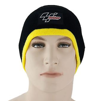 Motogp Beanie Hat Black / Yellow Trim