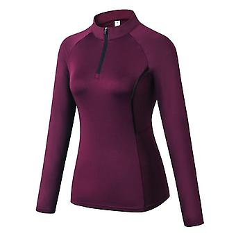 Women's Running Jacket Fitness Yoga Training Zipper Sports Long Sleeve Jogging