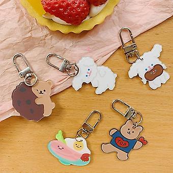 קריקטורה חמודה, מחזיק מפתחות תלוי דוב, שרוול מגן, תכשיט תליון