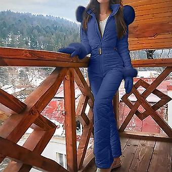 Women Fashion One Piece Jumpsuit Casual Thick Winter Warm Snowboard Skisuit