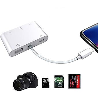 5-in-1 Sd/ Tf/ Cf Card Reader, Usb Camera Connection Kit, Otg Cable Adapter