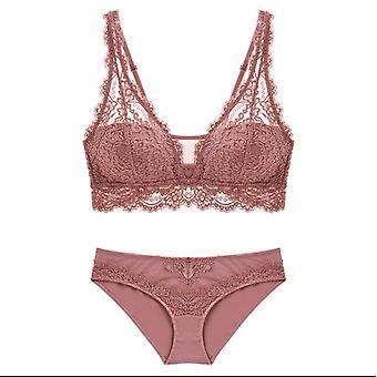 Women's Push Up Lace Underwear Slipje Dunne Ademende Bh Set