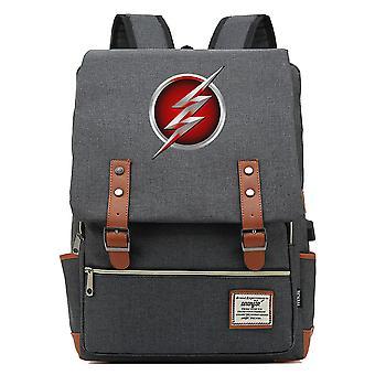 Superheld Flash Junior Schüler Schultasche USB Rucksack