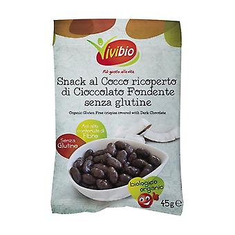 Coconut snack covered in dark chocolate 1 unit