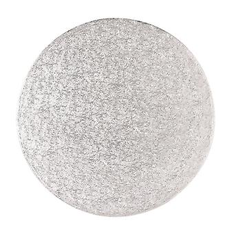 6& quot; (152mm) Cake Board Round Silver Fern - single
