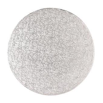 "6"" (152mm) Cake Board Round Silver Fern - single"