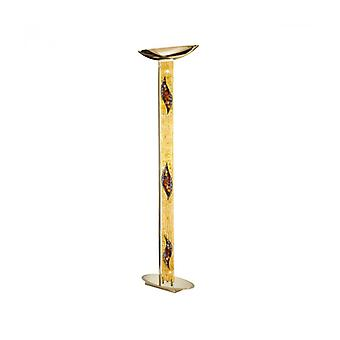 Lámpara De Pie De Diseño Delphi Oro 24 Quilates 4 Bombillas Beso de Oro