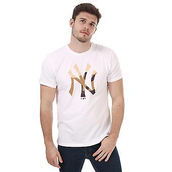 Menns New Era Camo Fylle New York Yankees T-skjorte i hvitt