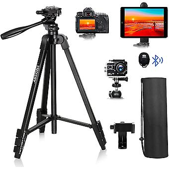 """DZK 55""""/140cm Lightweight Camera Phone Tripod,for Travel/Video/DSLR Canon Nikon,with"""