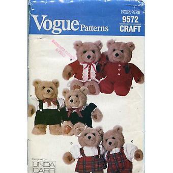 Vogue Craft Coser Patrón 9572 ~ Ropa de oso de peluche bebé diseñada por Linda Carr