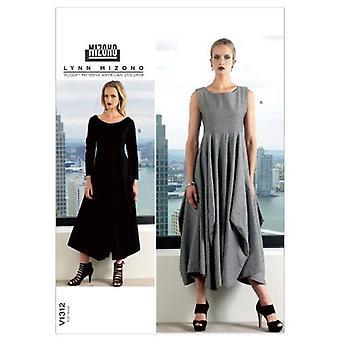 Vogue coser patrón 1312 misses vestido tamaño 8-16 diseñador sin cortar