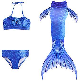 Mermaid girl swimsuit three-piece bikini tail for swimming tscs-5