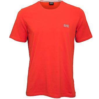 BOSS Luxe Jersey Crew-Neck T-Shirt, Deep Orange