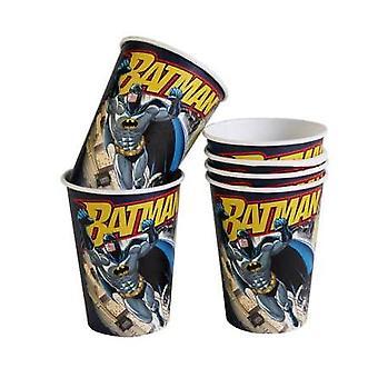 6 Gobelets en carton Batman 25 cl