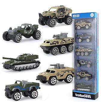 6pcs انزلاق السيارة العسكرية، الوالد والطفل نموذج سيارة محاكاة التفاعلية
