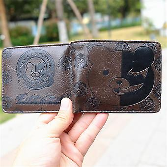 Monokuma Pu Leather Wallet Trigger 3d Touch Purse With Id Card