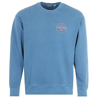Levi's Circle Logo Crew Neck Sweatshirt - Star Sapphire Blue