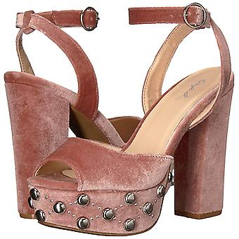 Qupid Womens Crush-38 Peep Toe Special Occasion Slingback Sandals