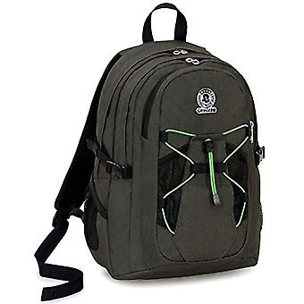 Invicta Active Benin Eco-Material Backpack, Green, 25 Lt, Double Compartment, Laptop Pocket up to 13'',School & Outdoor