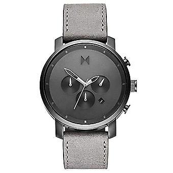 MVMT Analog Quartz Watch with Real Leather Strap D-MC02-BBLGR