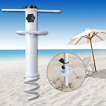 Ranta sateenvarjo hiekka ankkuri / base auger spiraaliteline säilytysteline