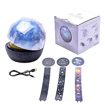 Star Night Light Sky Magic Star Moon Planet -projektorilamppu