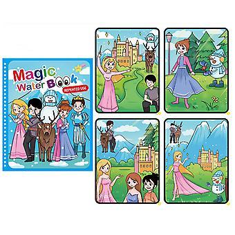 Montessori Brinquedos Reutilizáveis Livro de Colorir Magia Desenho da Água Animal Desenho Sensorial Primeiros Educação Brinquedos para Presente de Aniversário das Crianças