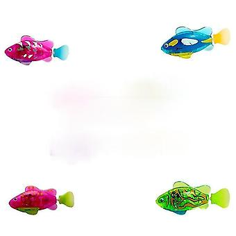 Elektroniczna ryba pływać dziewce bateria zawiera robotic pet dla dzieci kąpiel otchłań wędkarstwo akt jak prawdziwe ryby