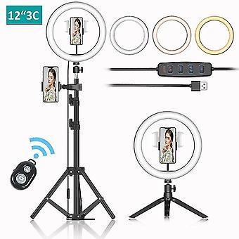 Led ring light 30cm, utilisé pour le selfie vidéo en direct led light