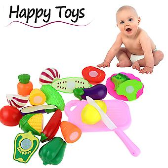 13pc Cutting Fruit Vegetable Pretend Play Children Kid Educational Toy