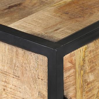 vidaXL Dressoir Handgesneden 60x35x75 cm Massief hout Mango