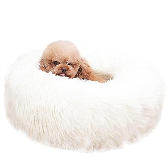 60X20cm fehér kutya macska bedround önmeleg nyugtató kisállat bedsoft kiskutya kanapé x7839