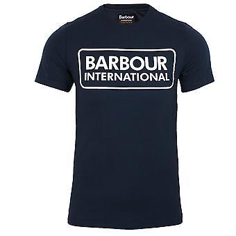 Barbour international men's navy large logo t-shirt