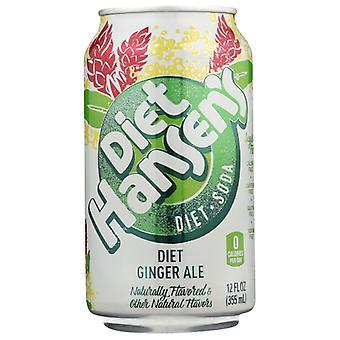 Hansen Soda Gngr Ale Diet, Case of 4 X 72 Oz