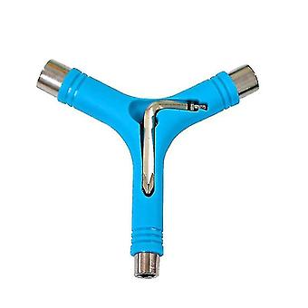 elektryczne narzędzie do naprawy deskorolka y kształt z kluczem typu l (Niebieski)