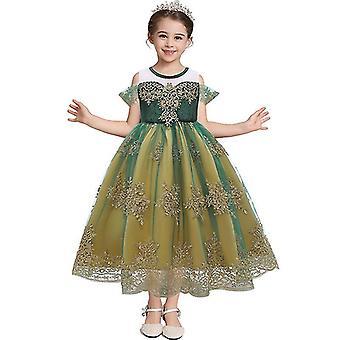 Frozen Anna Queen Children's Dress Princess Dress Cosplay Costume(100CM)