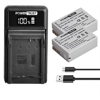 2Pack 1300mAh NB-10L NB10L Akku und LED USB Ladegerät für Canon PowerShot G1 X G15 G16 SX40 HS SX50