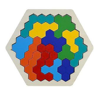Puzzle tangram di legno Puzzle del cervello Tetris Puzzle Bloacks Bambini in età prescolare | Puzzle