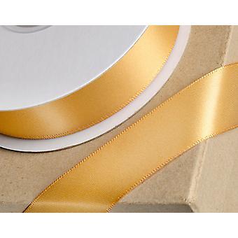 25m oro viejo 6mm cinta de satén ancho para artesanías