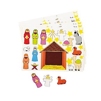 12 Christian Nativity Sticker Sheets for Kids Christmas Crafts