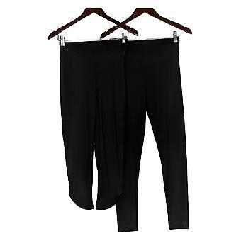 Cuddl Duds Leggings Flexwear Ensemble de 2 Noir A391311
