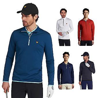 Lyle & Scott Herren Tech 1/4 Reißverschluss Midlayer Stretch Golf Pullover