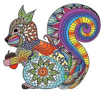 الملونة السنجاب بانوراما لغز لعبة قطعة للأطفال والكبار