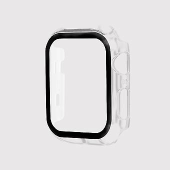 Tempered glass apple watch protective case, clear (42mm)