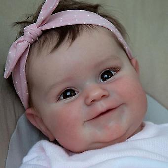 Wedergeboorte pop 50cm herboren baby pop geboren meisje baby levensechte echte zachte touch maddie met handgeworteld haar hoge kwaliteit handgemaakte kunst pop schattig cadeau