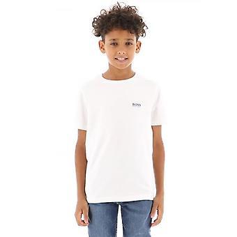 BOSS Kids White Short Sleeve T-Shirt
