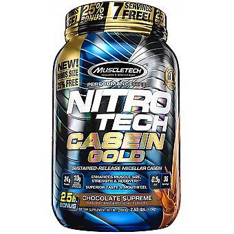 Nitro-Tech Casein Gold, Creamy Vanilla - 1130 grams