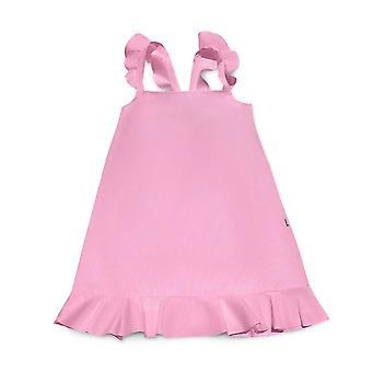 Streifen Neon Pink Sommerkleid