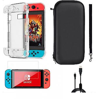 Qian Carrying Case Accessories Bag Shell Cover Charging Cable Screen Protector For Nintendo Switch