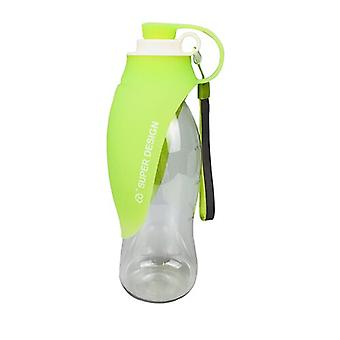 580ml Hundvattenflaska Silikonblad Design Husdjur Vatten dispenser